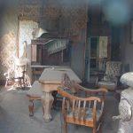 Blick in das verlassene Wohnzimmer
