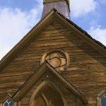 Frontansicht der Methodistenkirche in Bodie